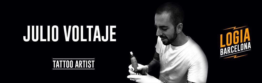 Tatuador Julio Voltaje Logia Barcelona