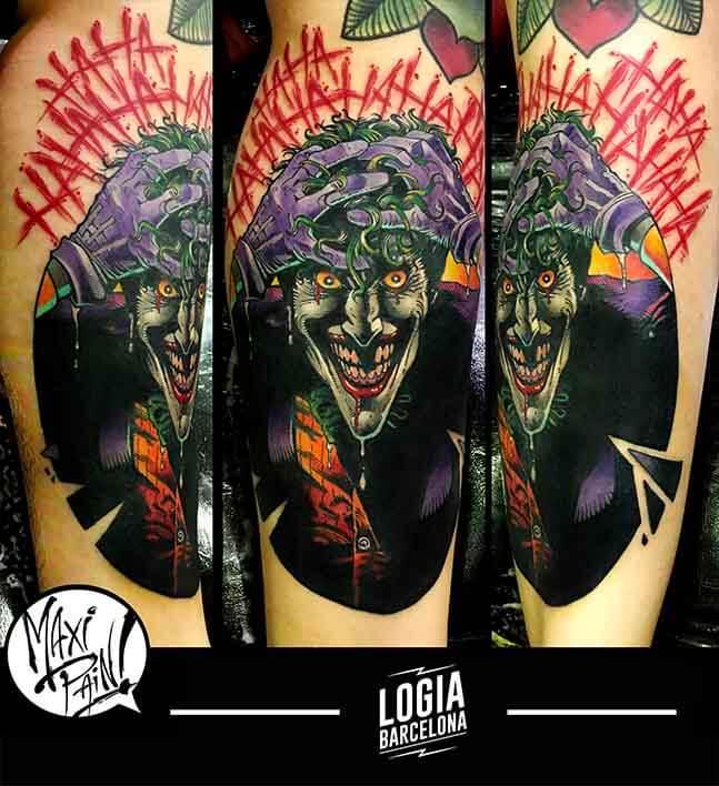 tatuaje_joker_brazo_maxi_paint_logia_barcelona