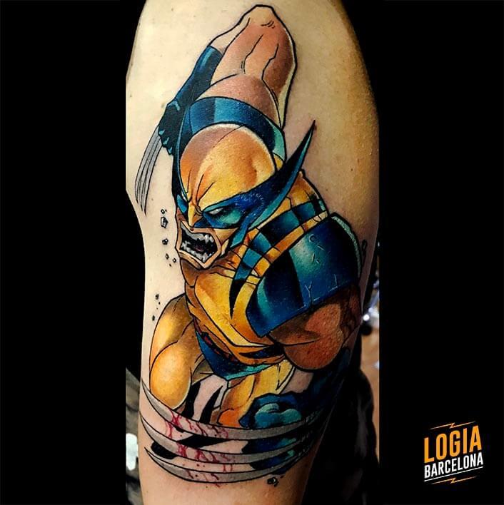 tatuaje_lobezno_brazo_maxi_paint_logia_barcelona