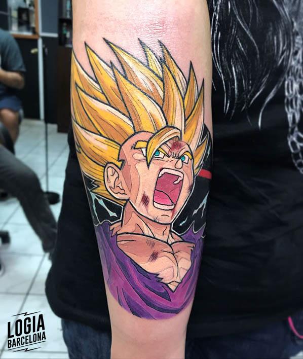 tatuaje goku dragonball Logia Barcelona