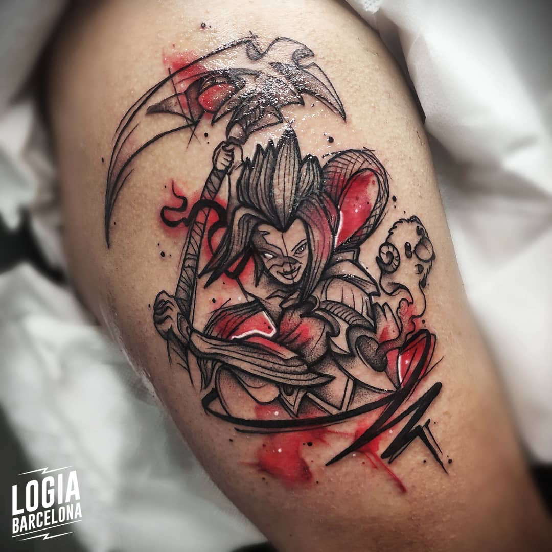 tattoo sketch Yeik Logia Barcelona