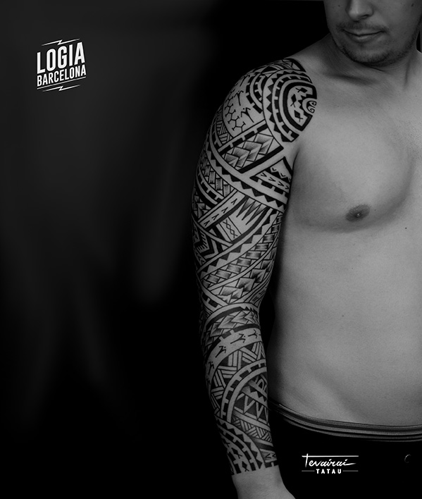 tatuaje maori - mejores tatuadores barcelona - Logia Tattoo Tevairai