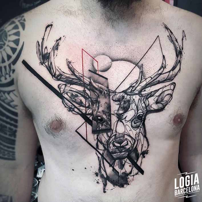 tattoo sketch ciervo Dime Reck Logia Barcelona