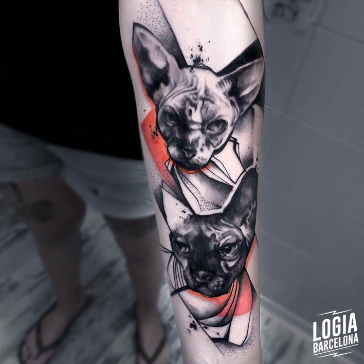 tatuajes de gatos Dime Reck Logia Barcelona
