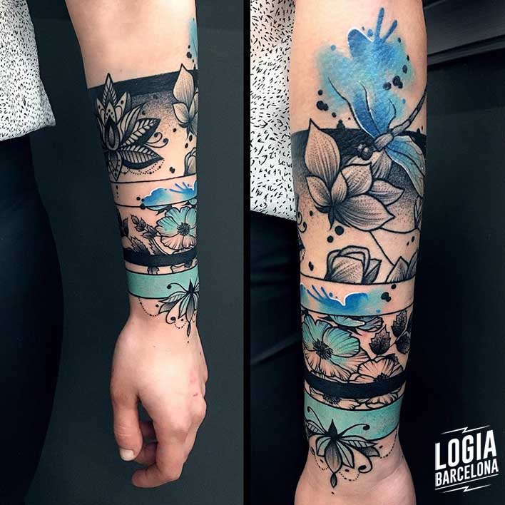 tatuaje flor hawaiana Monika Ochman Logia barcelona