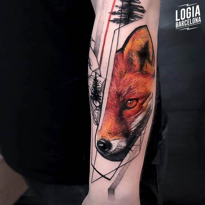 tatuaje sketch zorro Dime Reck Logia Barcelona