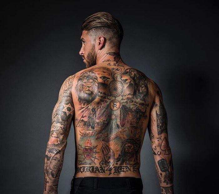 Los tatuajes de Sergio Ramos (2019)