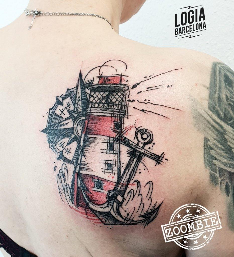 Tatuajes de anclas | Logia Tattoo Barcelona