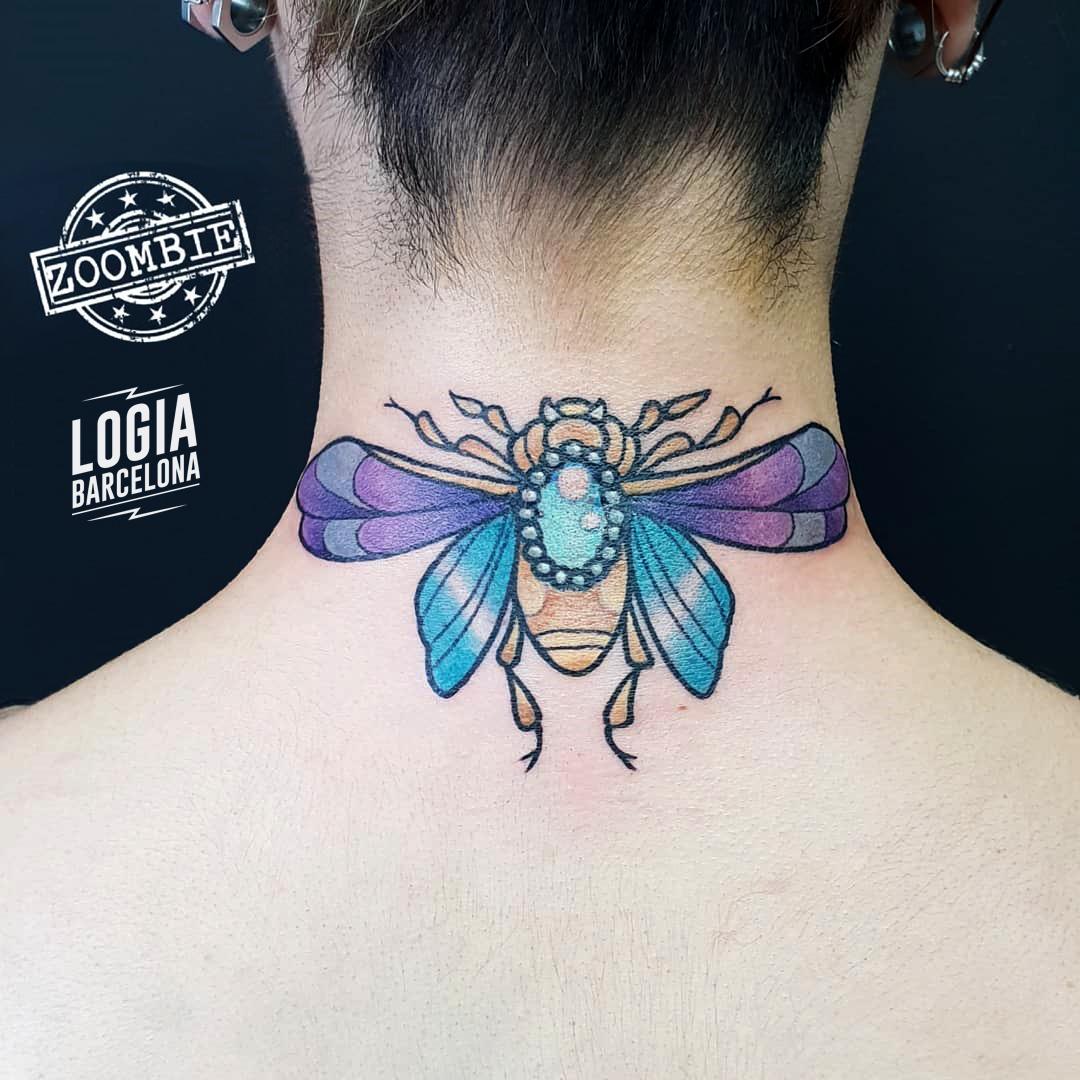 Tatuaje De Escarabajo Egipcio Logia Tattoo Barcelona