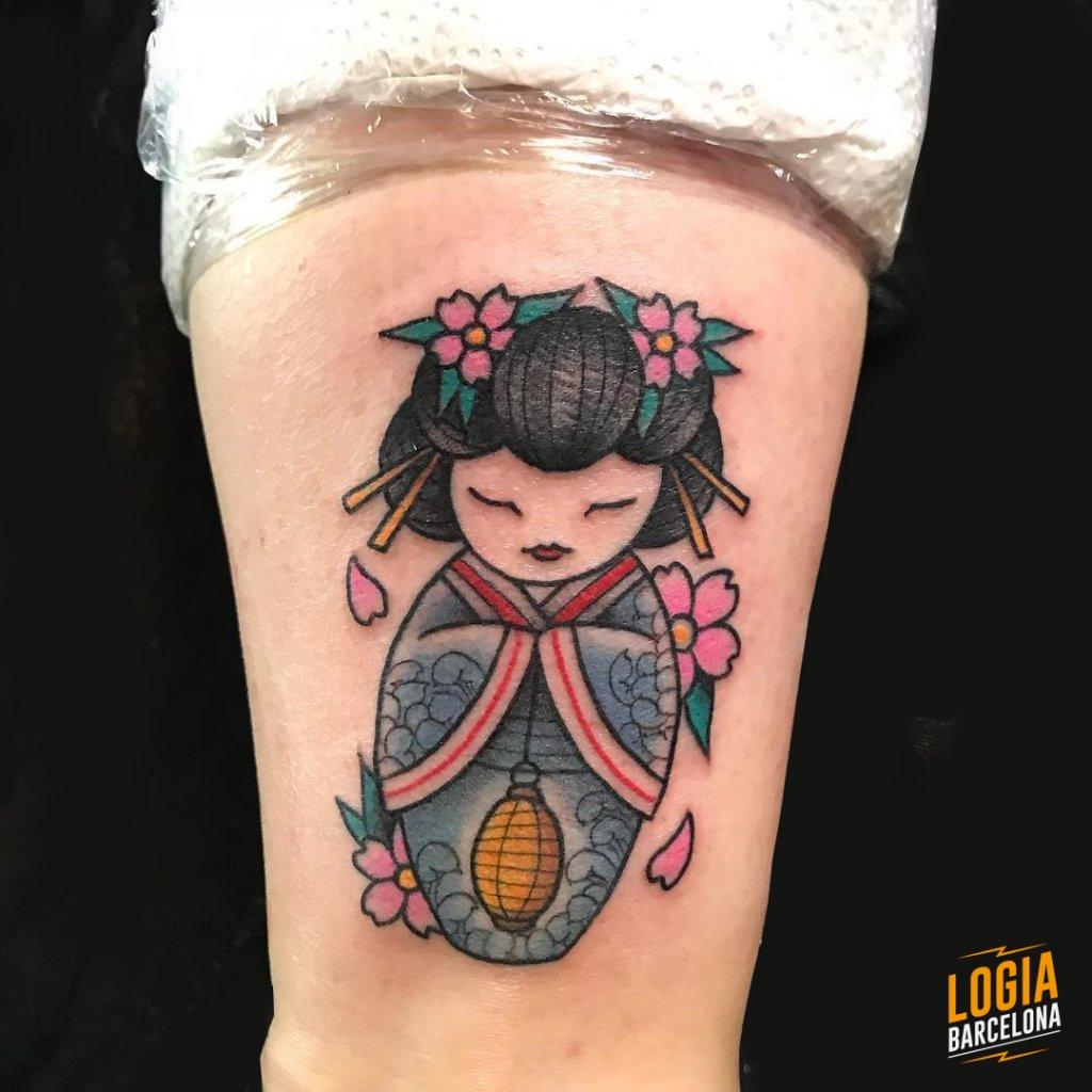 Tatuajes de Geishas Newschool Laia Desole Logia Barcelona