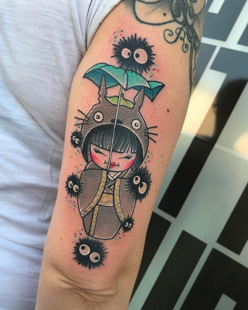 Tatuajes de Geishas Totoro Newschool Marta Pari Logia Barcelona