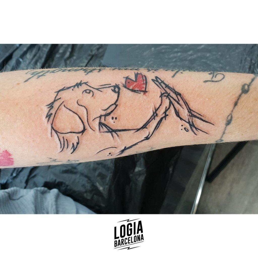 Tatuaje de perro walkin boceto Logia Barcelona