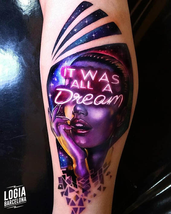 tatuaje tinta blanca neon