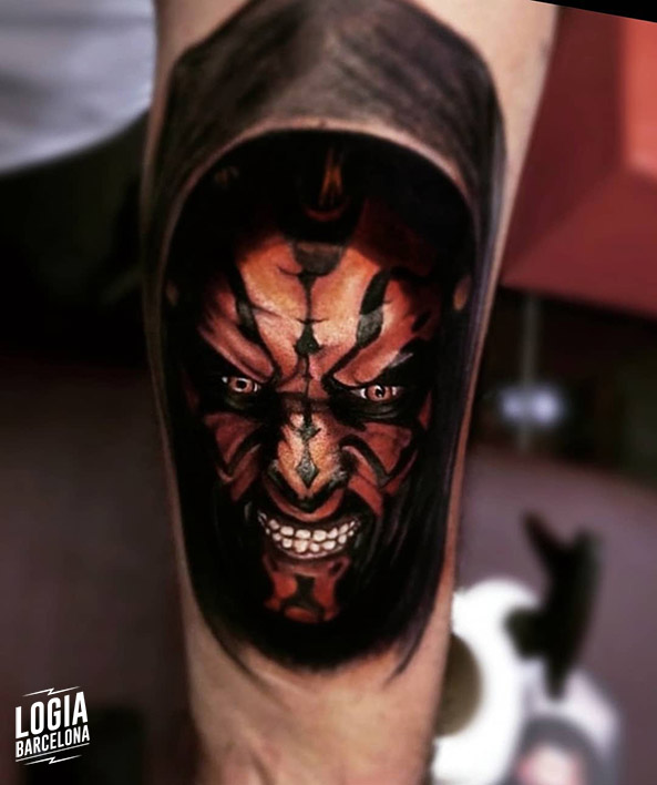 Star Wars Tattoo - Darth Maul Tattoo Logia Barcelona Vinni Mattos