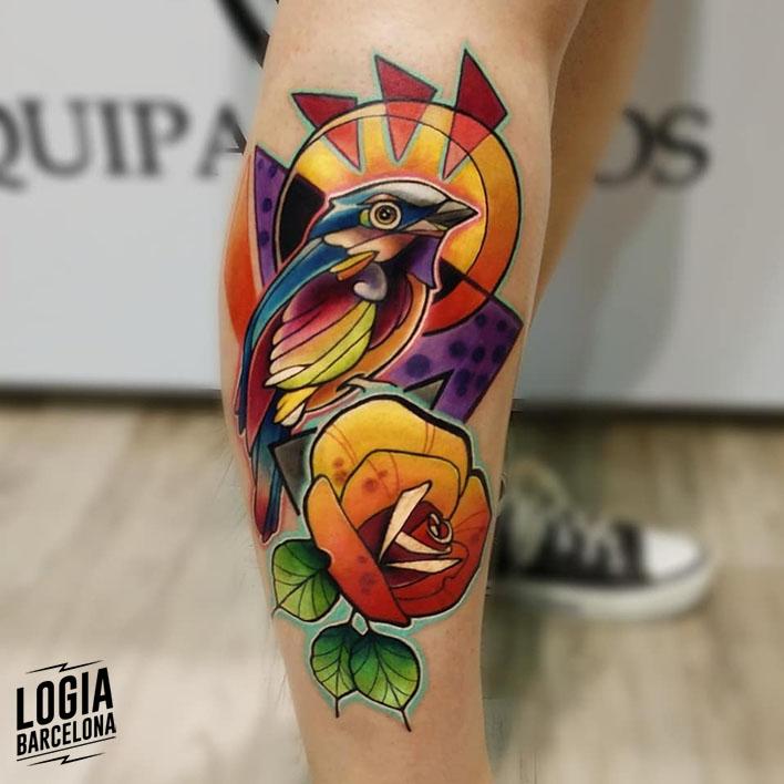 tatuaje a color Vinni Mattos Logia Barcelona