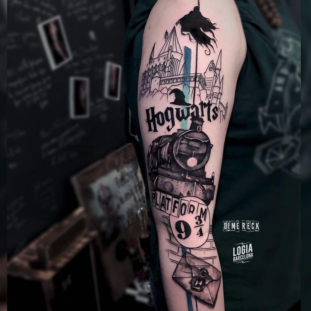 Tatuaje Harry Potter Hogwarts Dime Reck Logia Barcelona