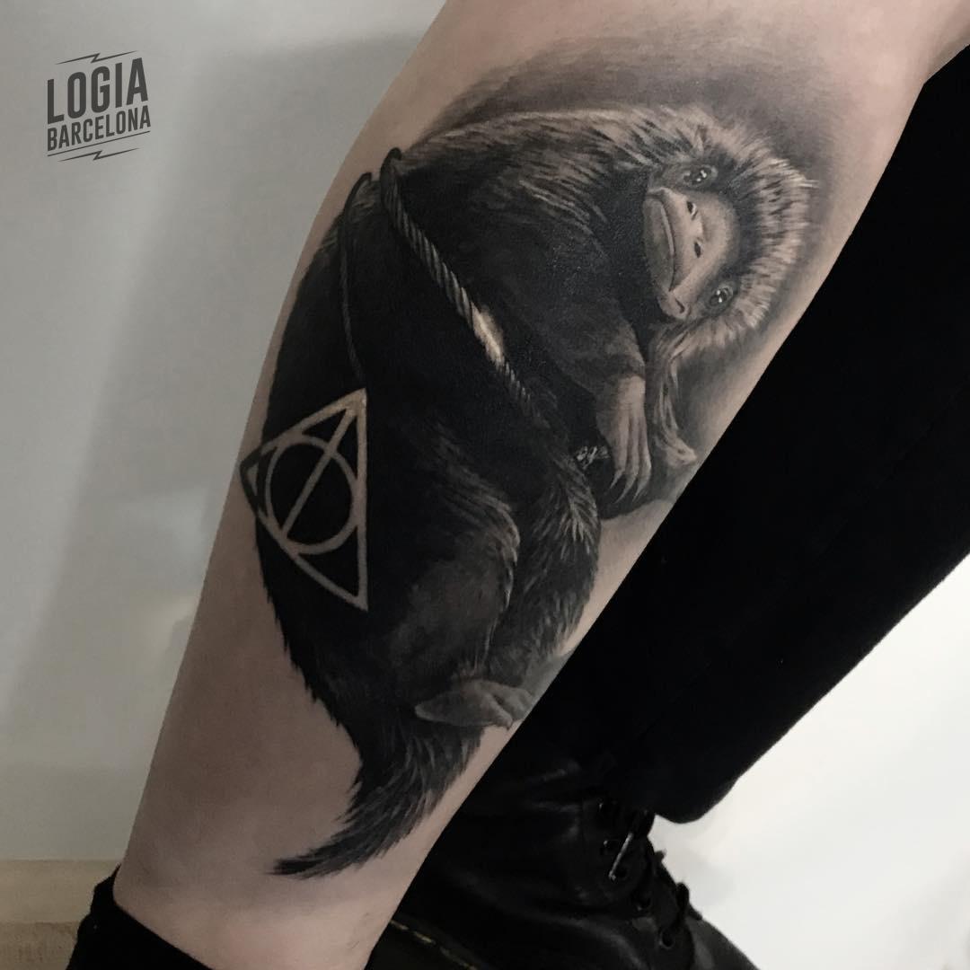 Tatuaje Harry Potter Reliquias de la muerte Jas Logia Barcelona