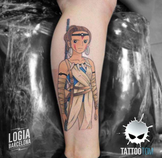 Tatuaje Mononoke Star Wars Tattootom Logia Barcelona