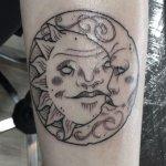 Tatuajes de sol y luna