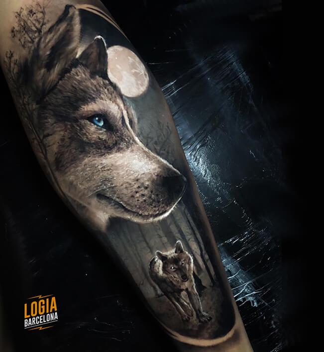 tatuajes nordicos lobos