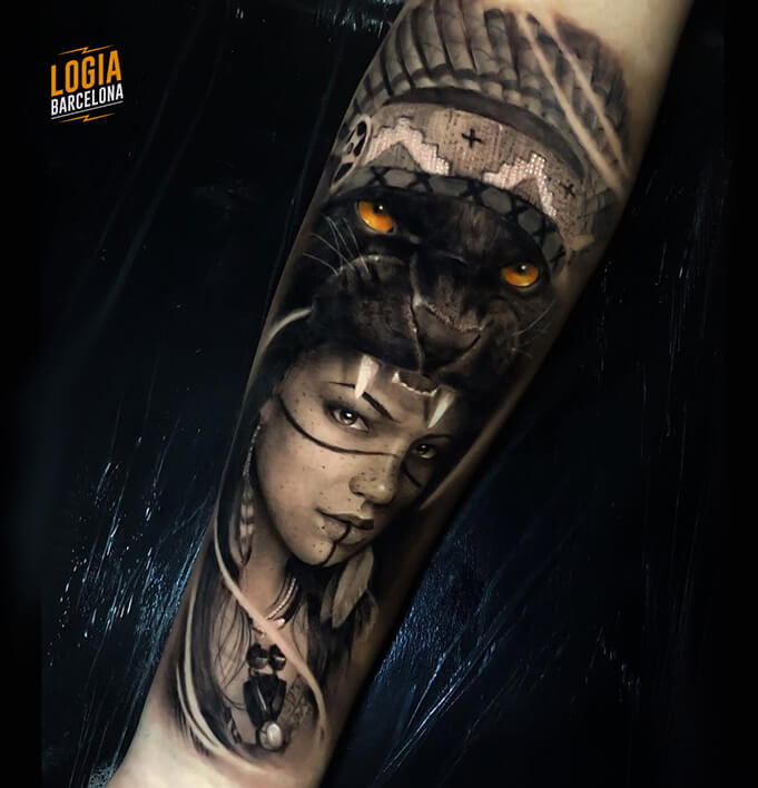 Mononoke Tattoo realismo Tobias Agustini Logia Barcelona
