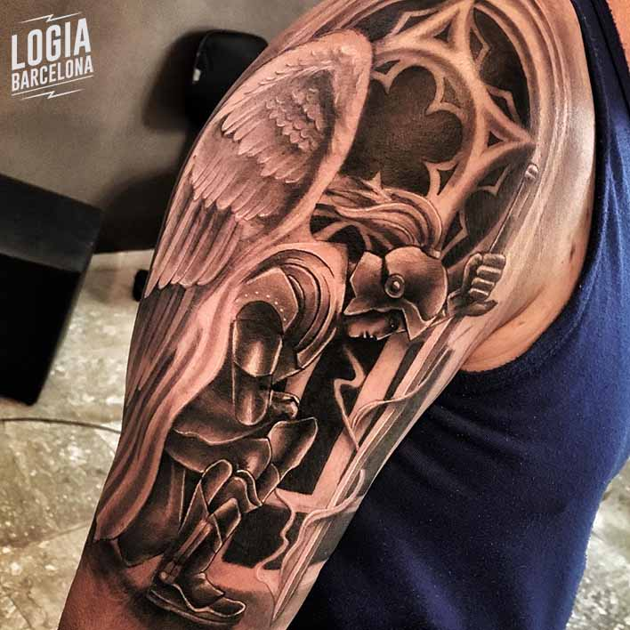 tatuajes religiosos angel iglesia