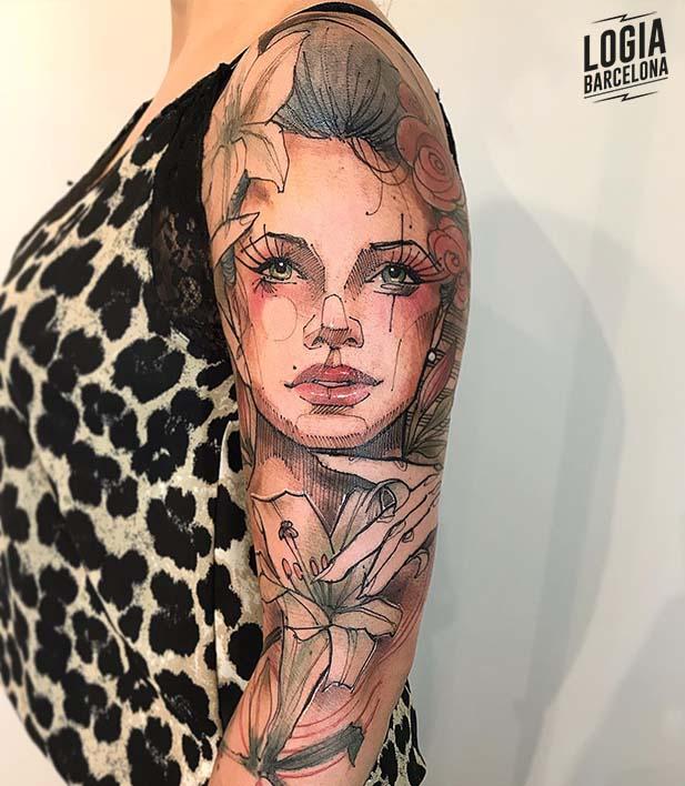 Tatuaje lirio