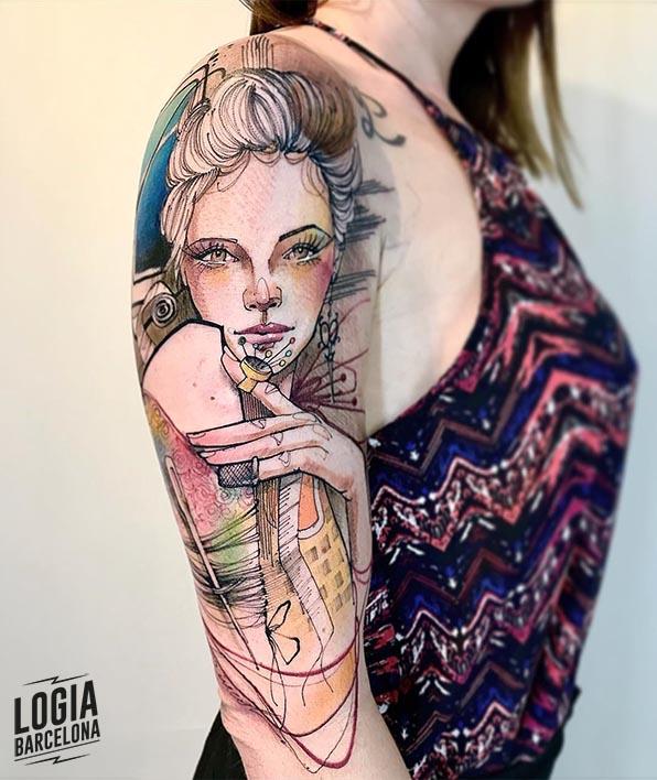 tatuaje sketch Lincoln Lima Logia Barcelona