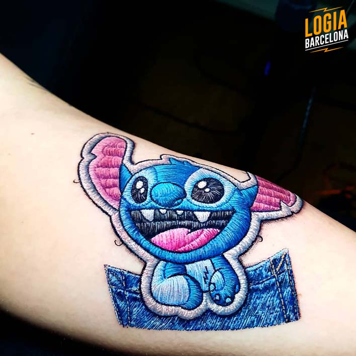 stitch tattoo bordado