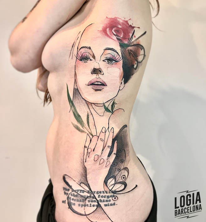 tattoo sketch Lincoln Lima Logia Barcelona