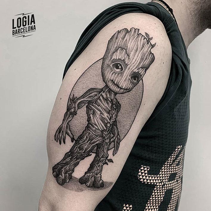 mejores tatuadores barcelona - groot dotwork - Logia Tattoo victor Dalmau