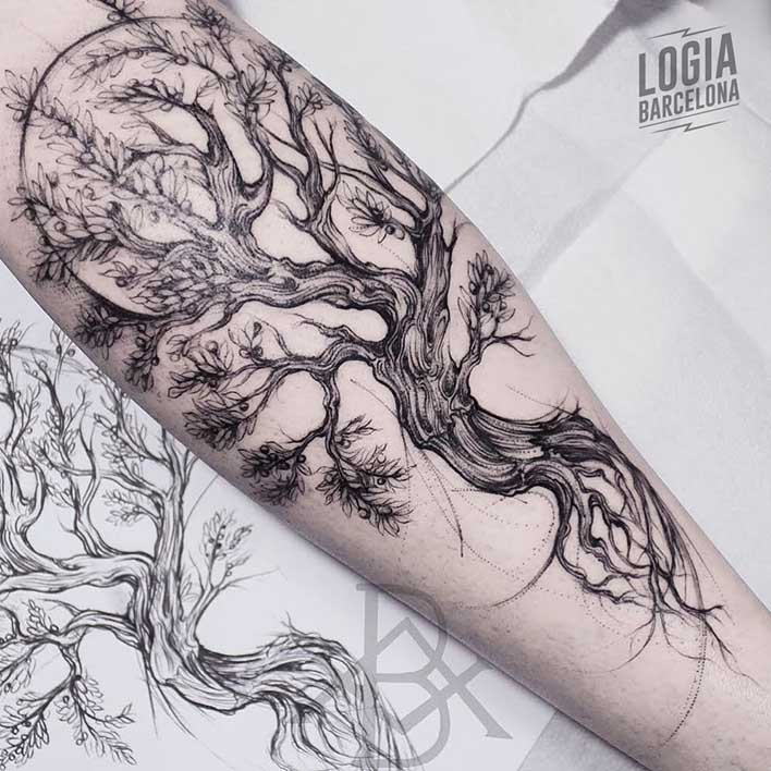 tatuaje_pierna_arbol_logia_barcelona_bruno_almeida