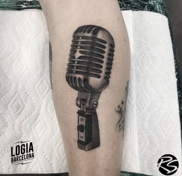 Tatuajes con sonido - tatuajes de microfonos Logia Barcelona