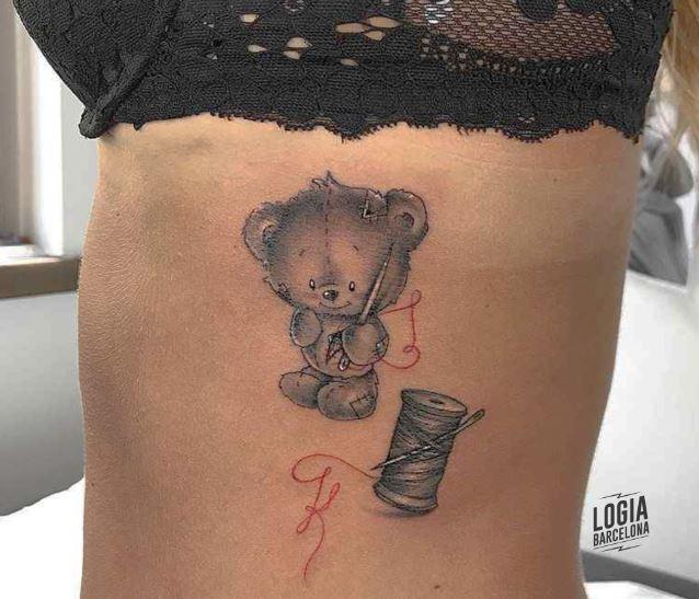 Tatuajes de muñecas Teddy osito de peluche - Giulia del Bianco - Logia Barcelona