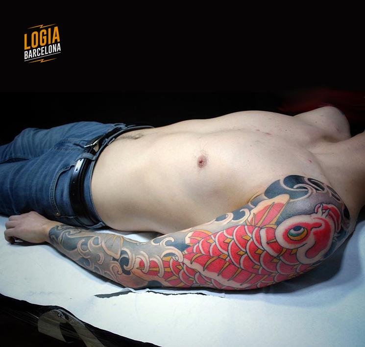 Pez Koi Tatuaje