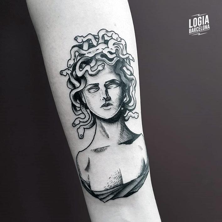 Tatuajes De Medusa Logia Tattoo Barcelona