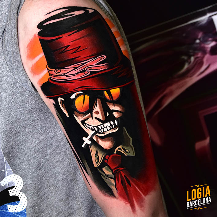 tatuajes rojos anime
