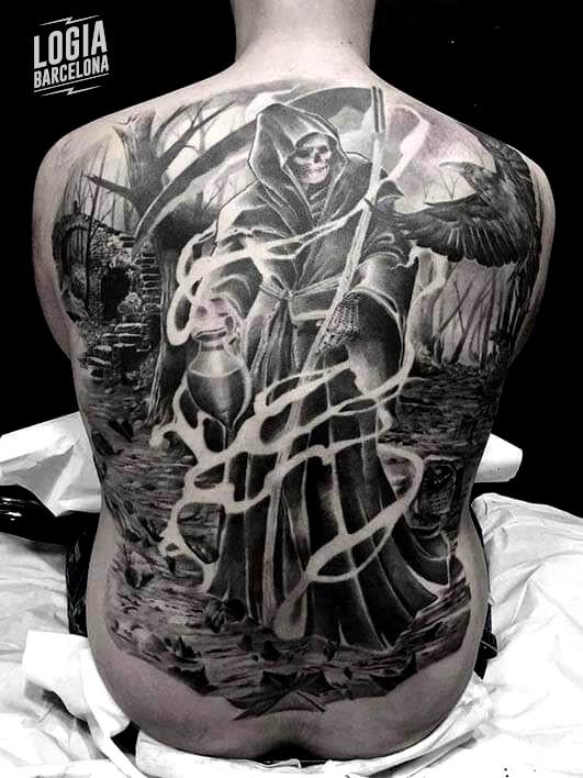 Tatuajes de la Santa Muerte | Logia Tattoo Barcelona