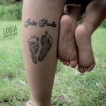 Tatuaje huella bebé