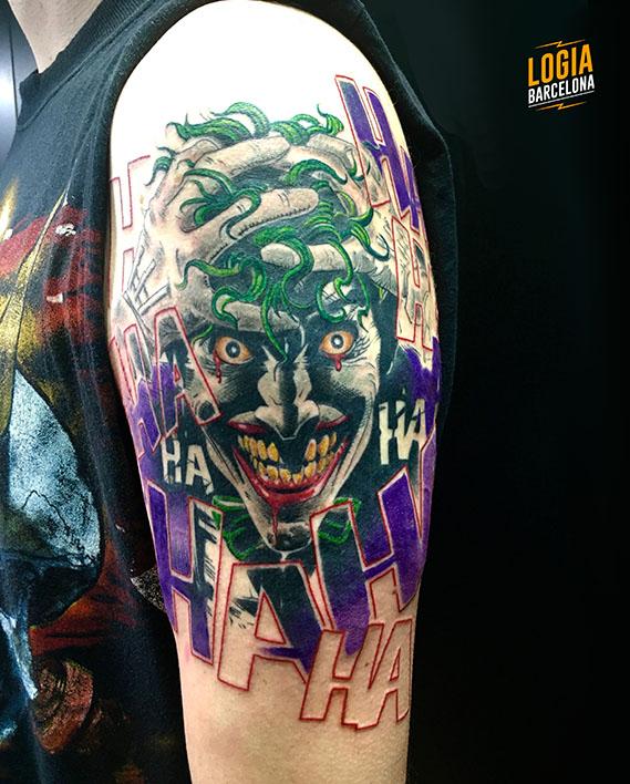tatuaje smile joker