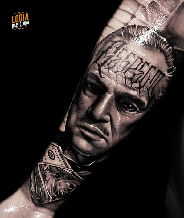 tatuajes en la cara - Tatuaje de El Padrino