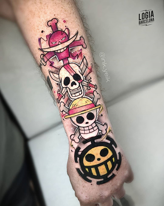 tatuaje one piece piratas