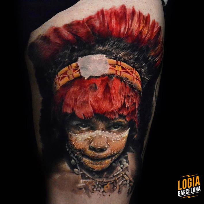 tatuajes rojos realistas