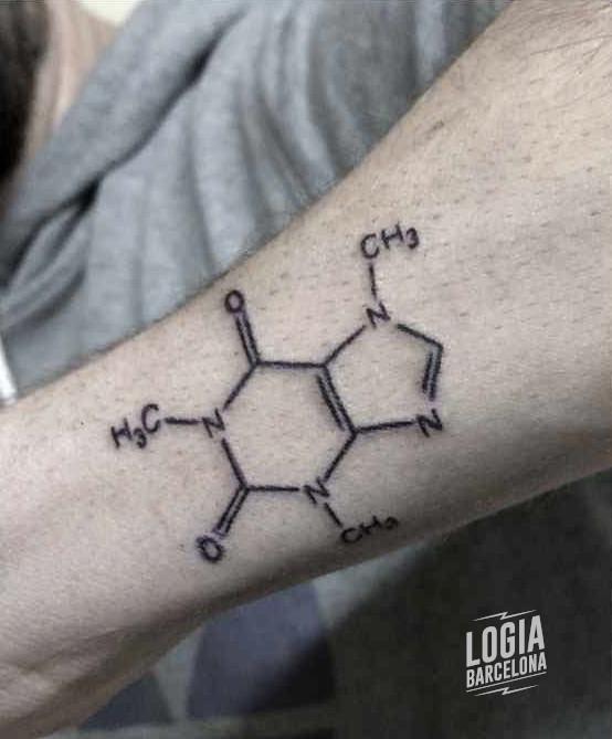 tatuajes para hombres pequeños formula quimica