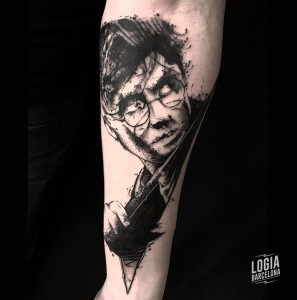 black tattoo - harry potter - Logia Barcelona