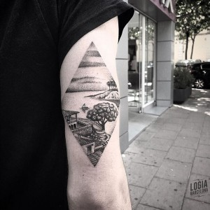 tatuajes puntillismo - paisaje - Logia Barcelona
