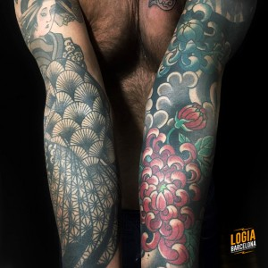 Tatuajes japoneses en brazos Logia Barcelona