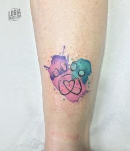 Tatuaje walk in acuarela huella - Logia Barcelona
