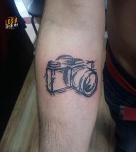 Tatuaje walk in camara - Logia Barcelona