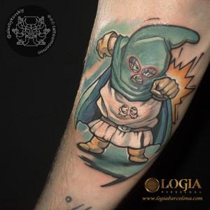 Tatuajes-brazo-dragonball-logia-barcelona-Alex